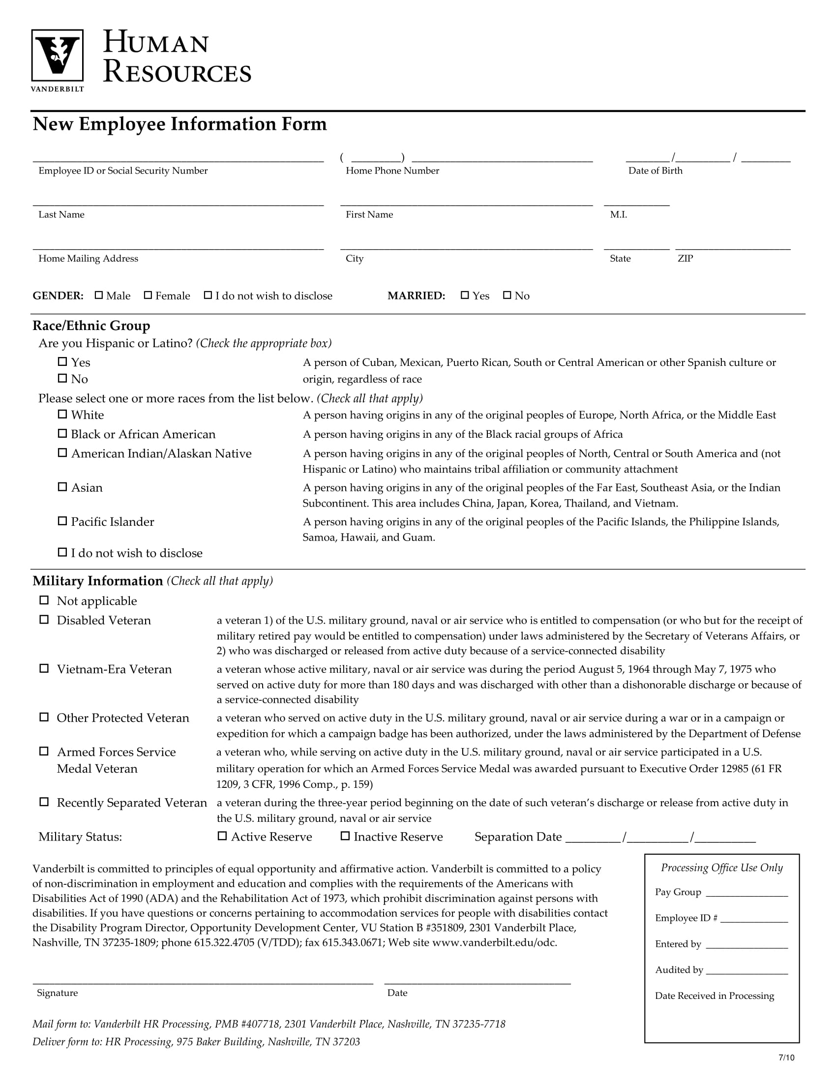 new employee information form 1