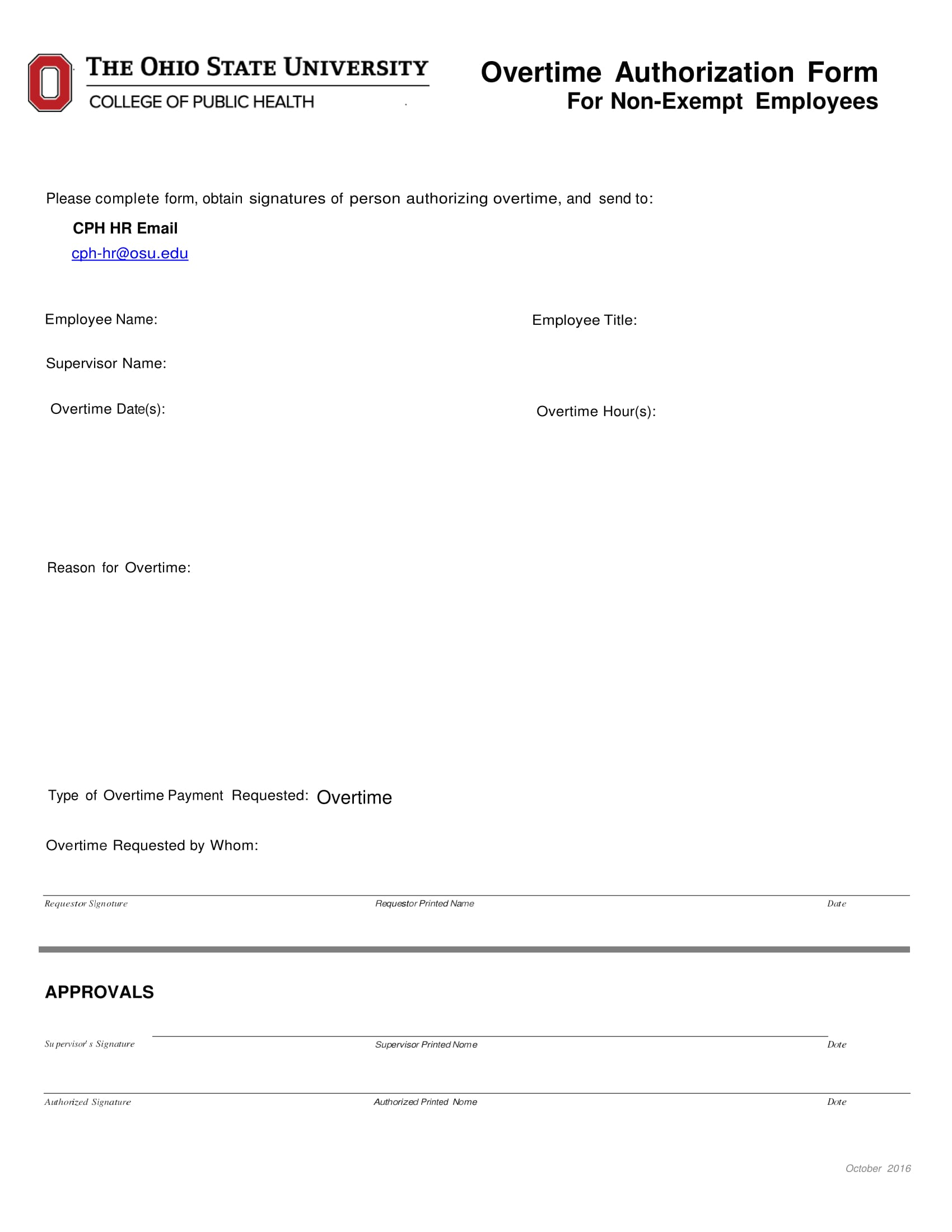 non exempt employees overtime authorization form 1