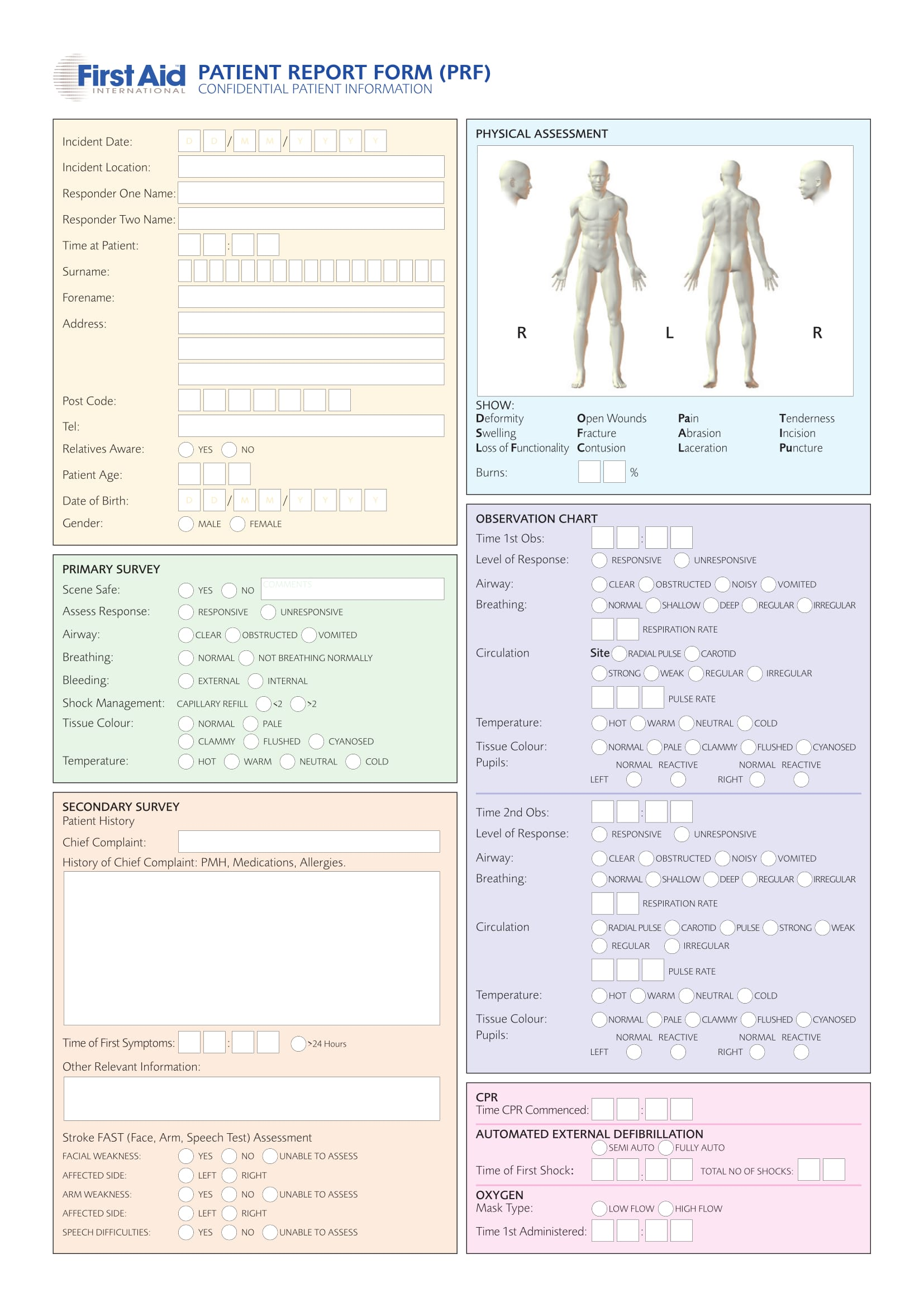 14 patient report forms free word pdf format download for Patient report form template download