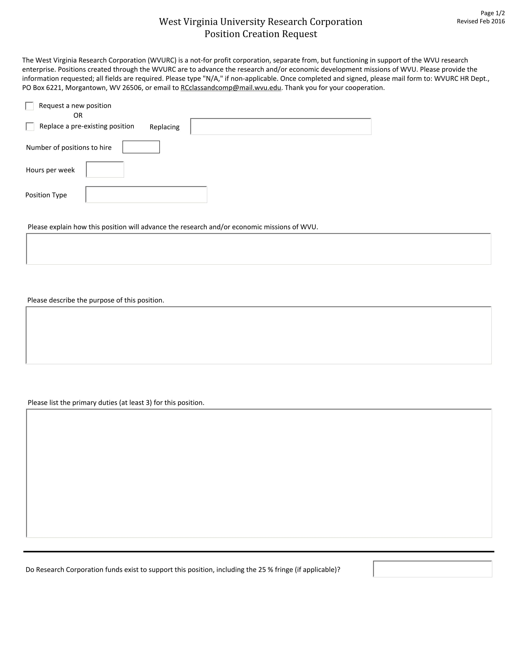position creation request form 1