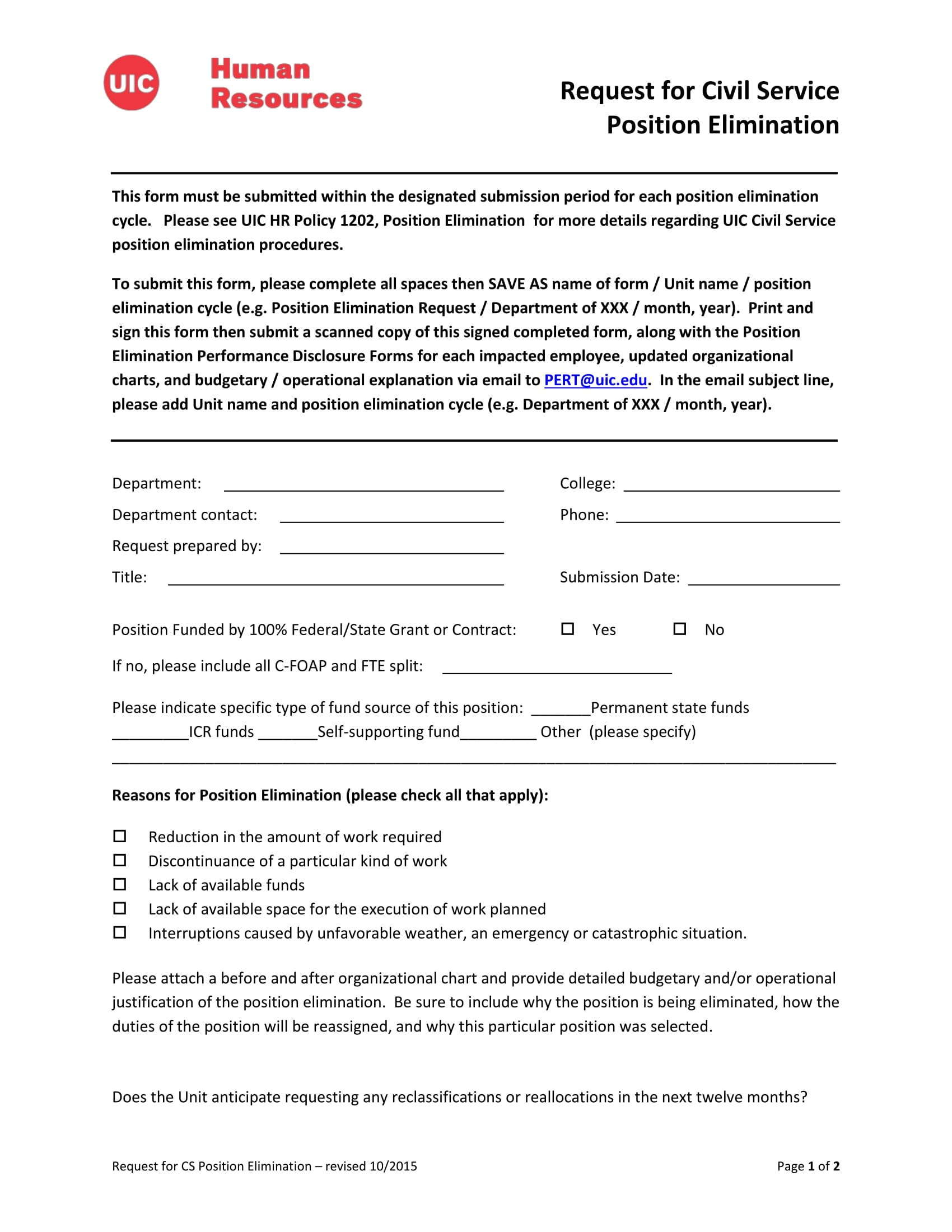 position elimination request form 1