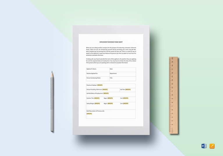 Reference Check Template  BesikEightyCo