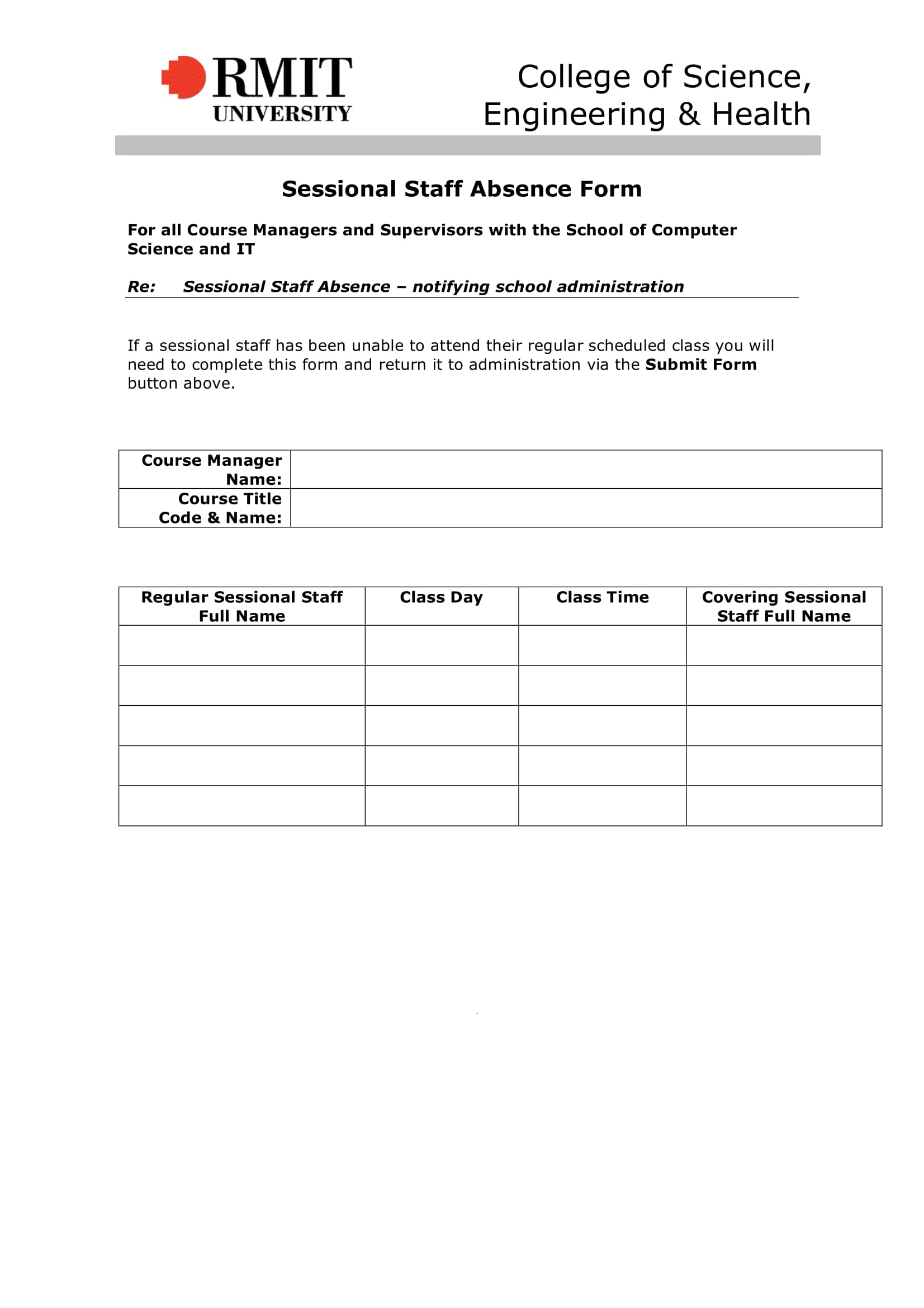 sessional staff absence form 1