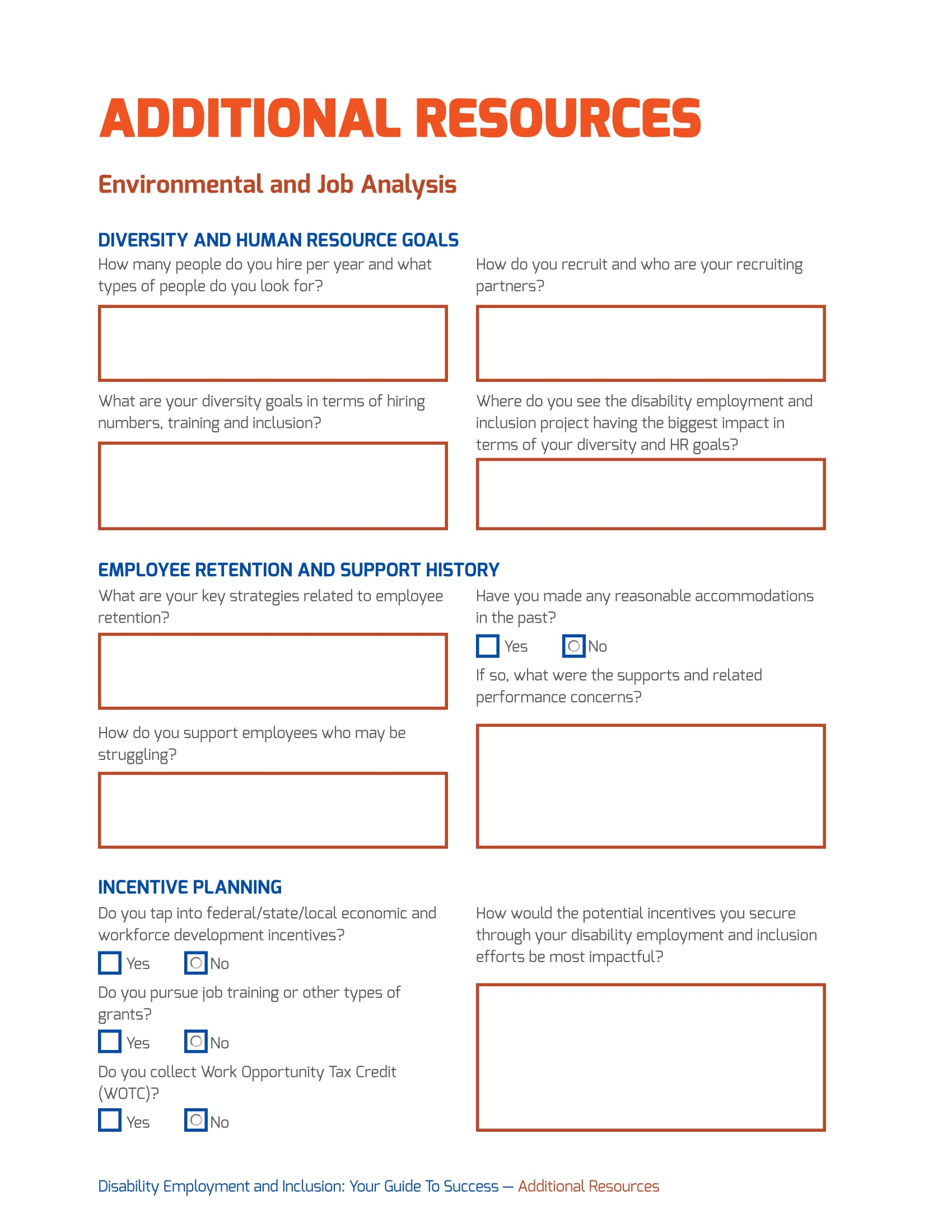 workplace environment and job analysis form 1