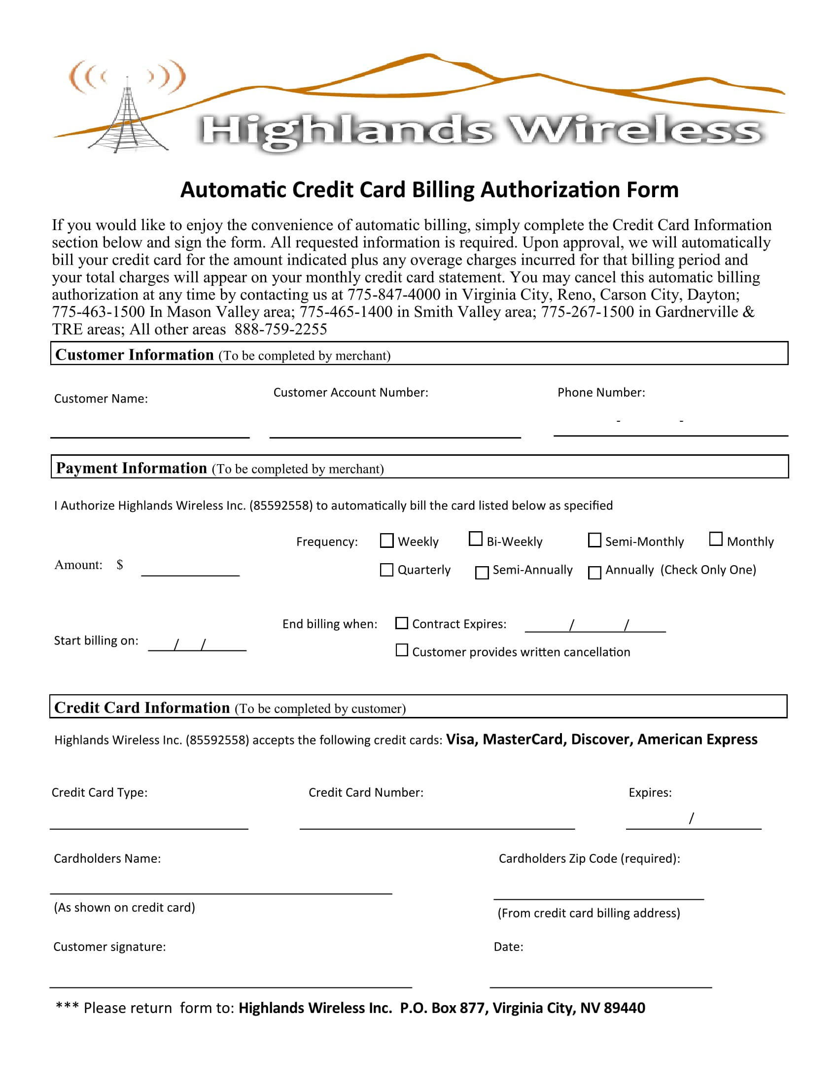 automatic credit card billing authorization form 1
