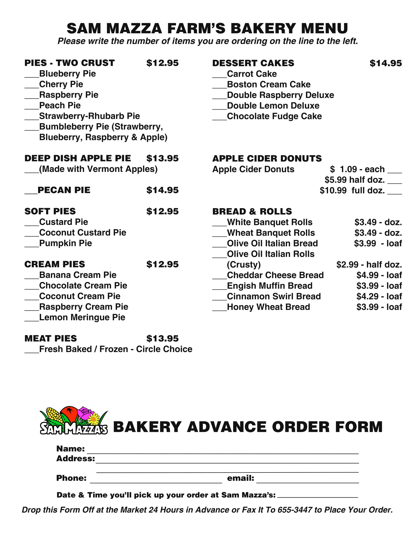 bakery menu order form 1