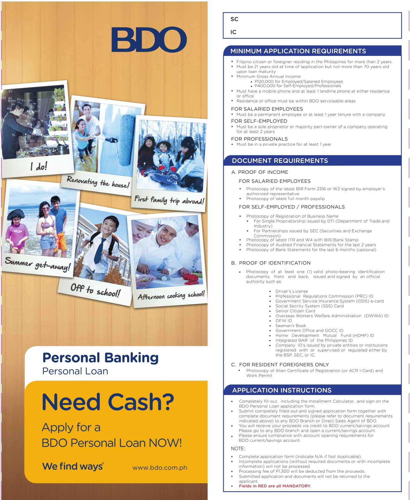 bank loan application form sample 1