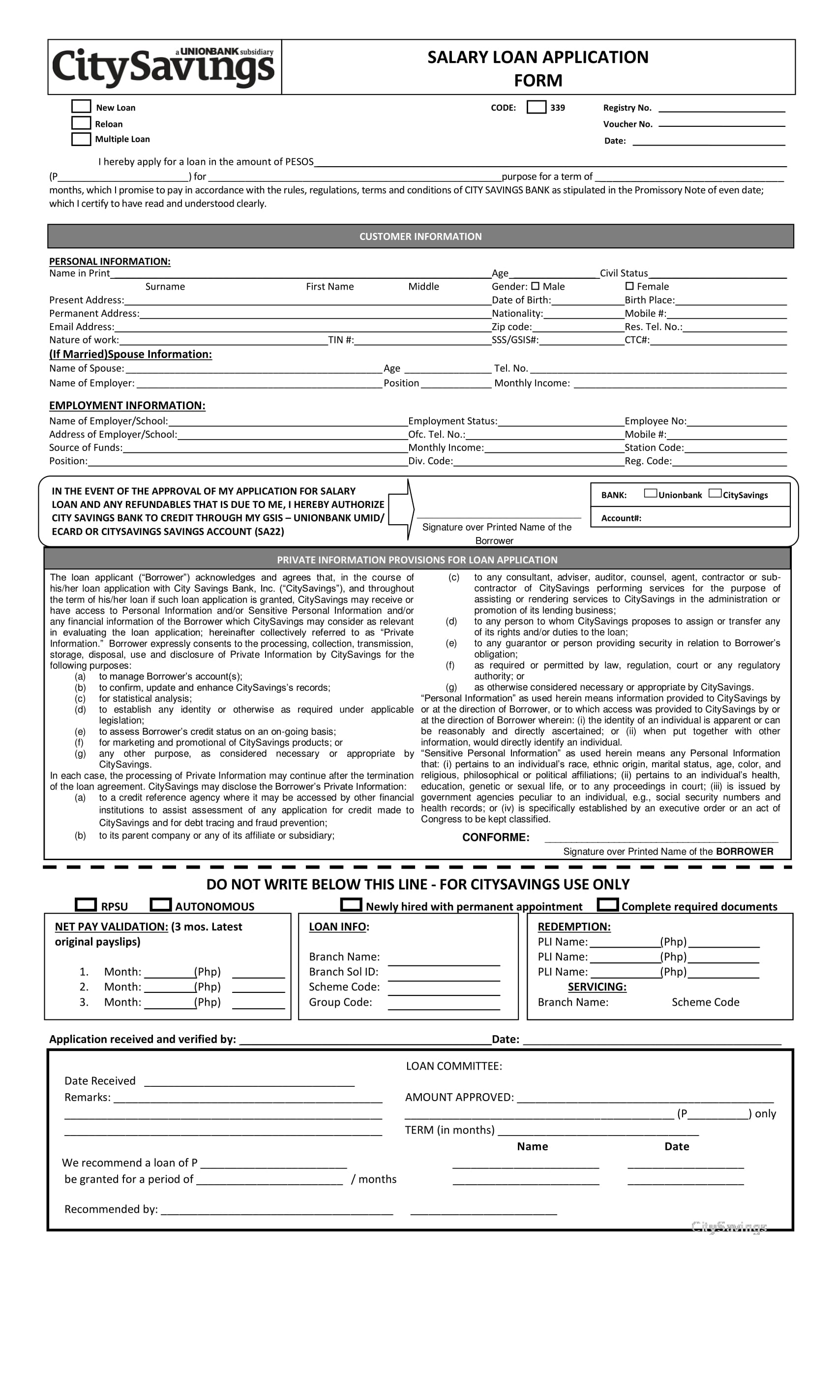 free 3  bank loan application form and checklist forms in pdf