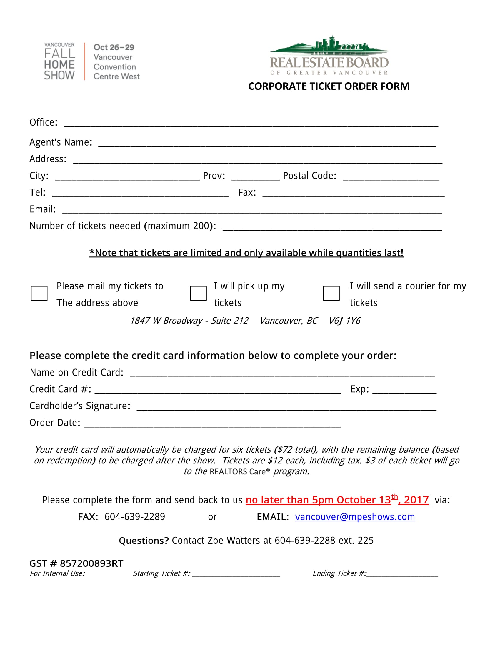 corporate ticket order form 1