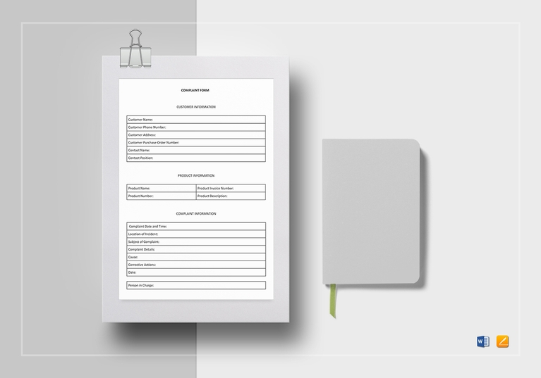 Customer Complaint Form Template  Customer Complaints Form Template