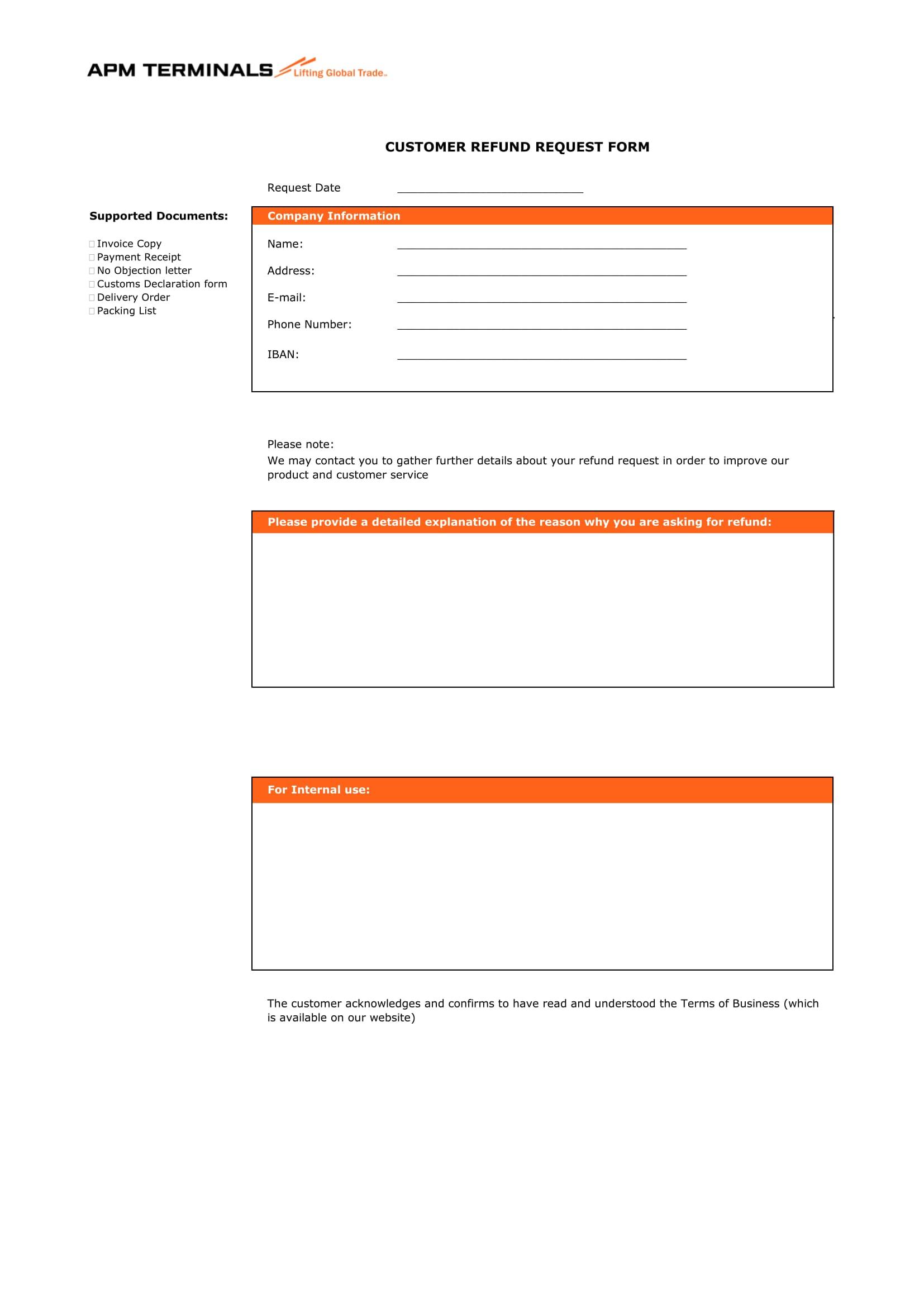 customer refund request forms 1
