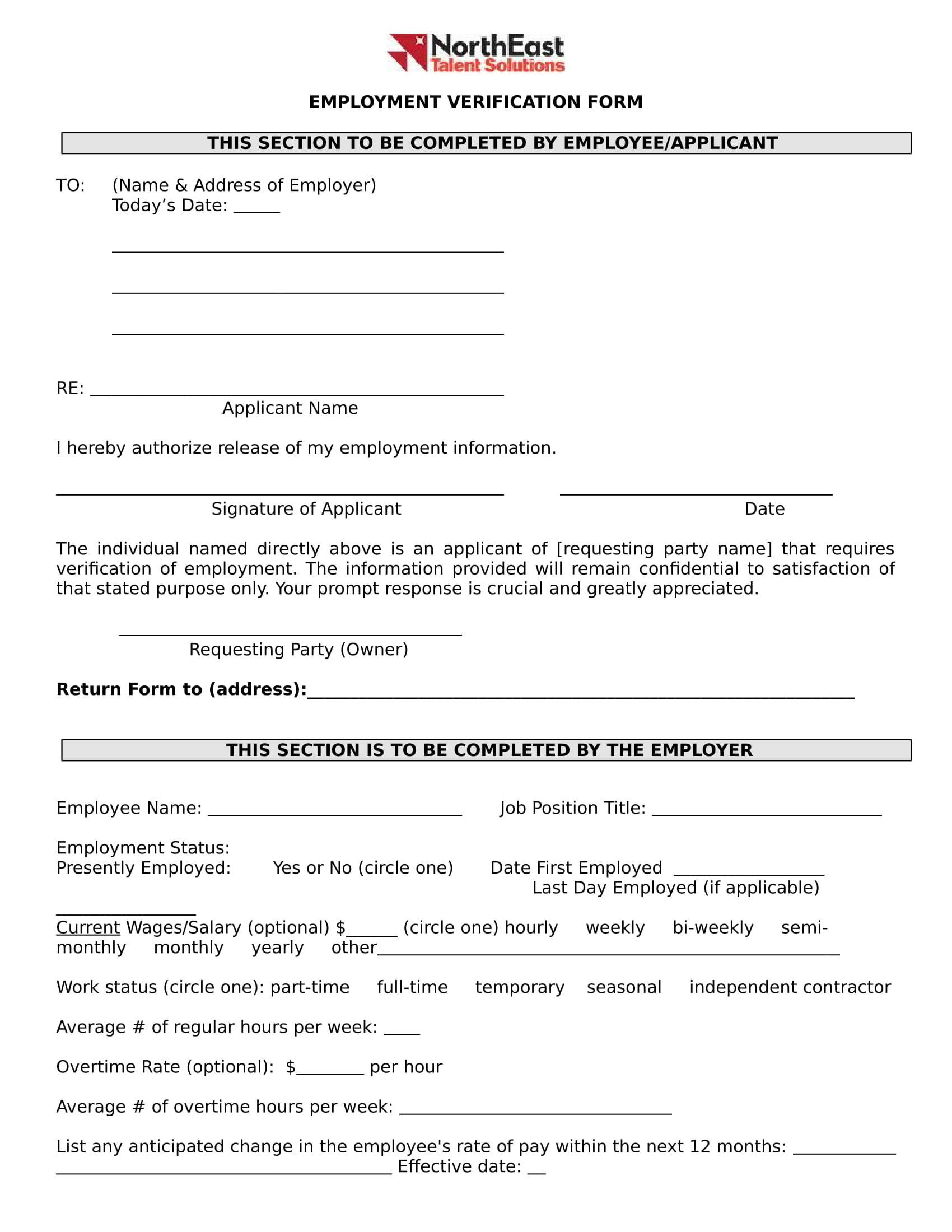 employment verification form in doc 1