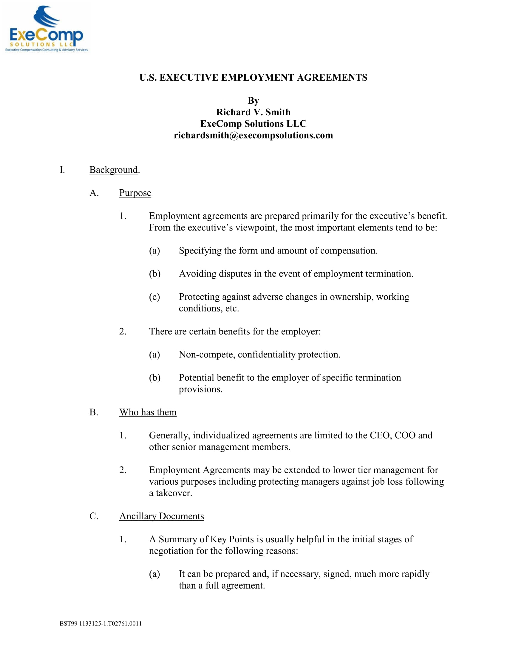 executive employment agreement template 01