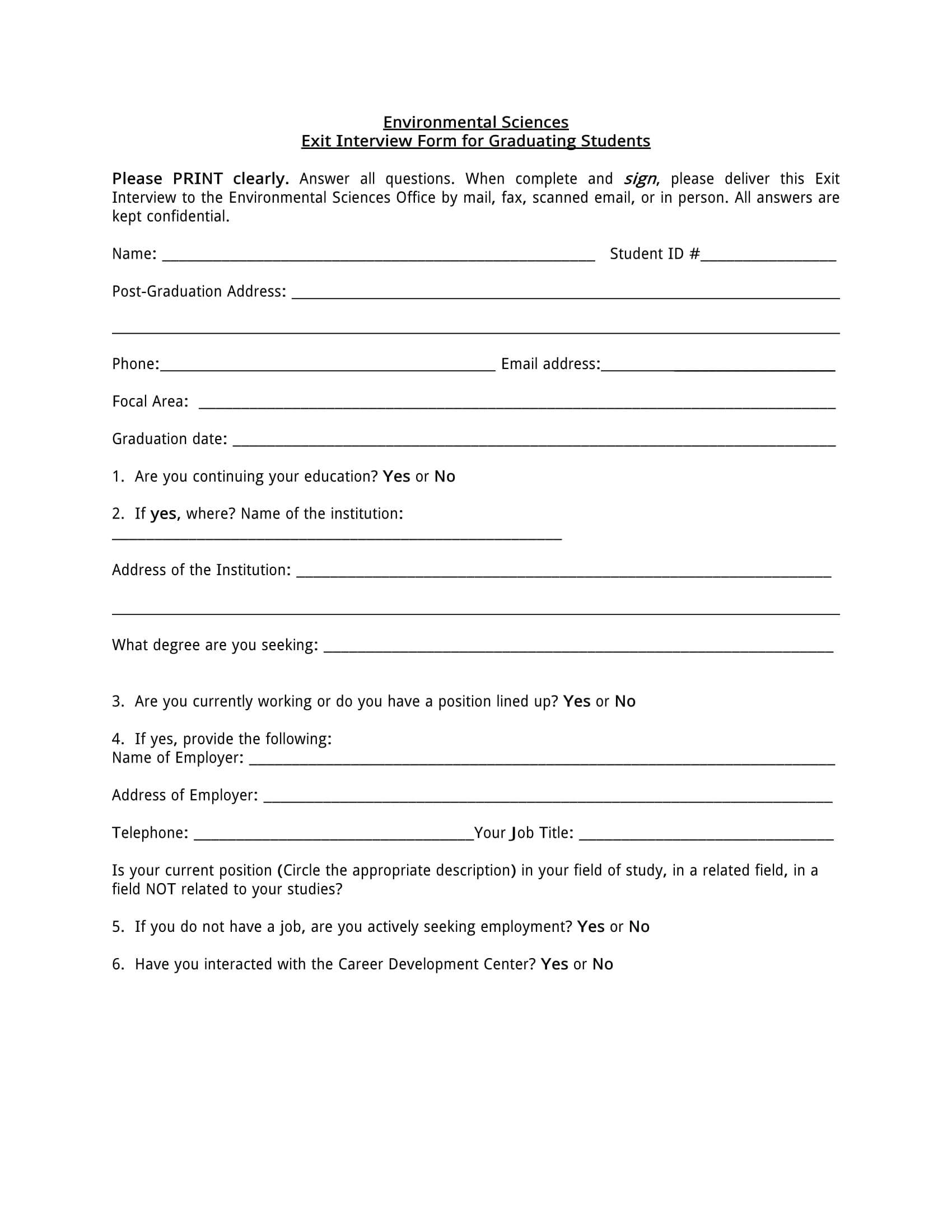 graduating students exit interview form 1