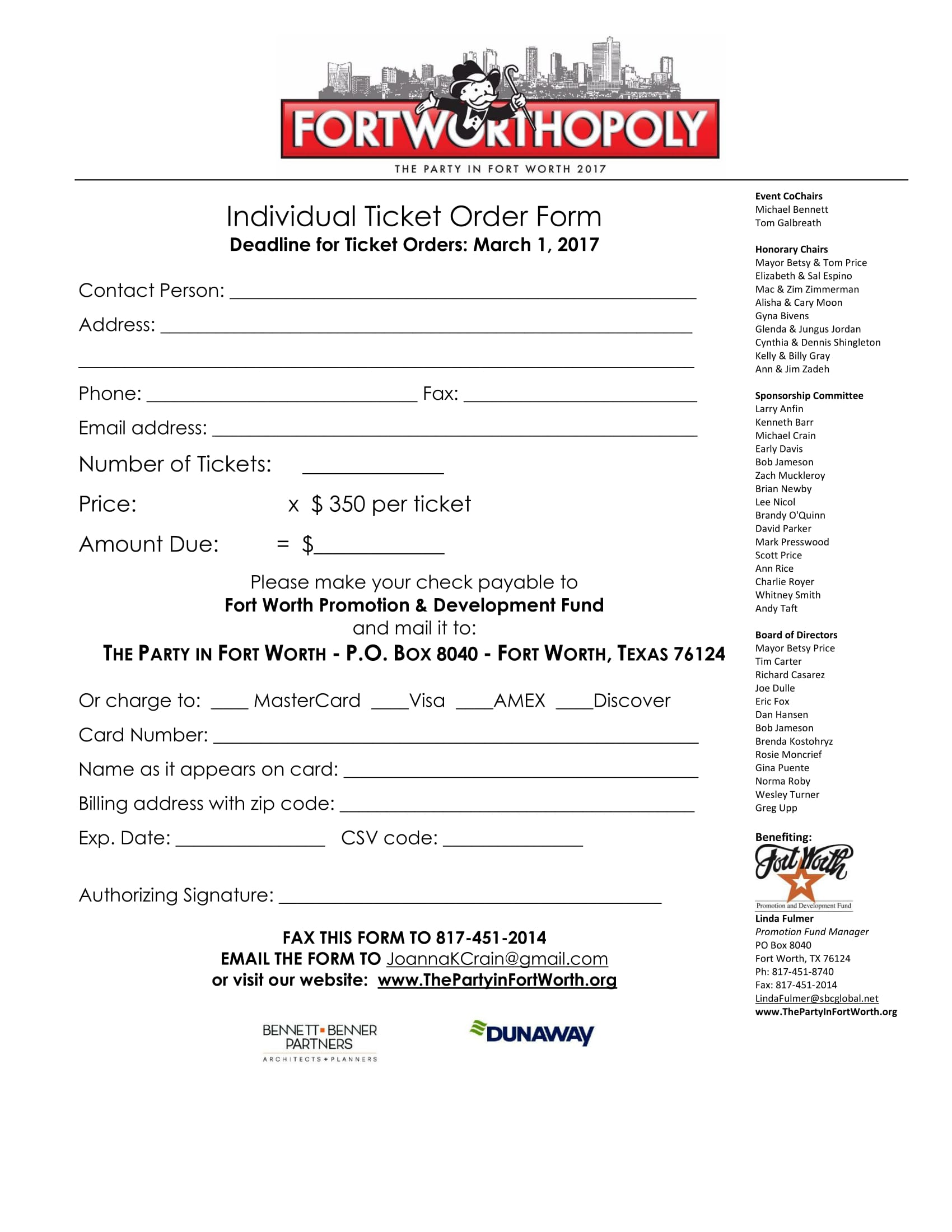 individual ticket order form 1