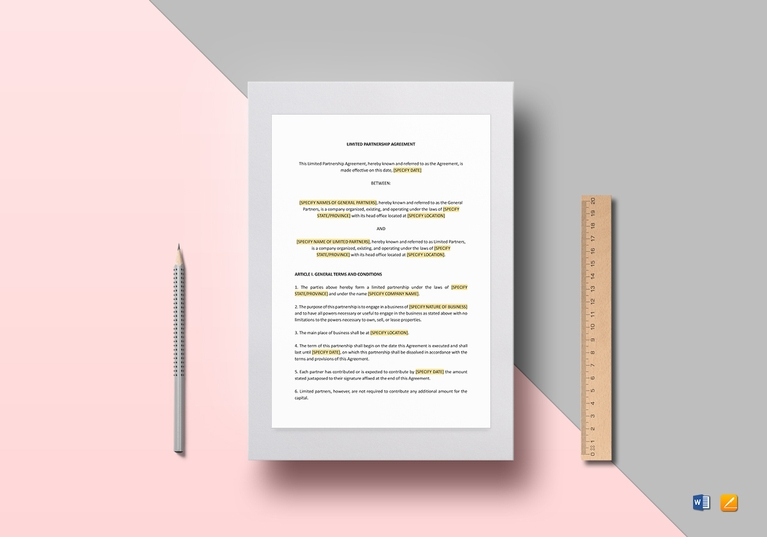 limited partnership agreement template1
