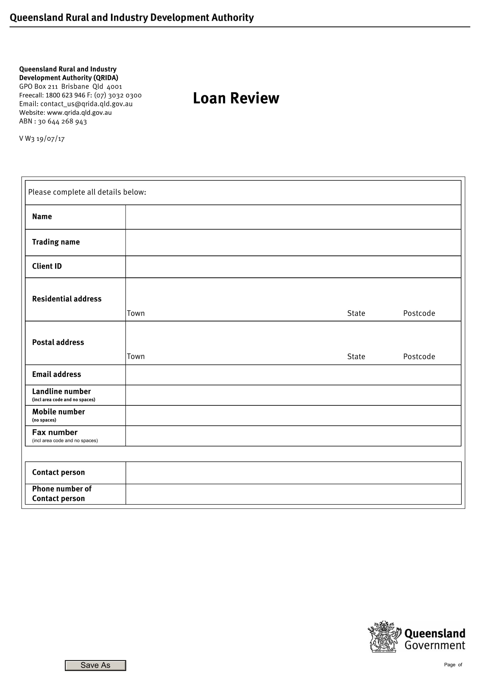 loan review form sample 1