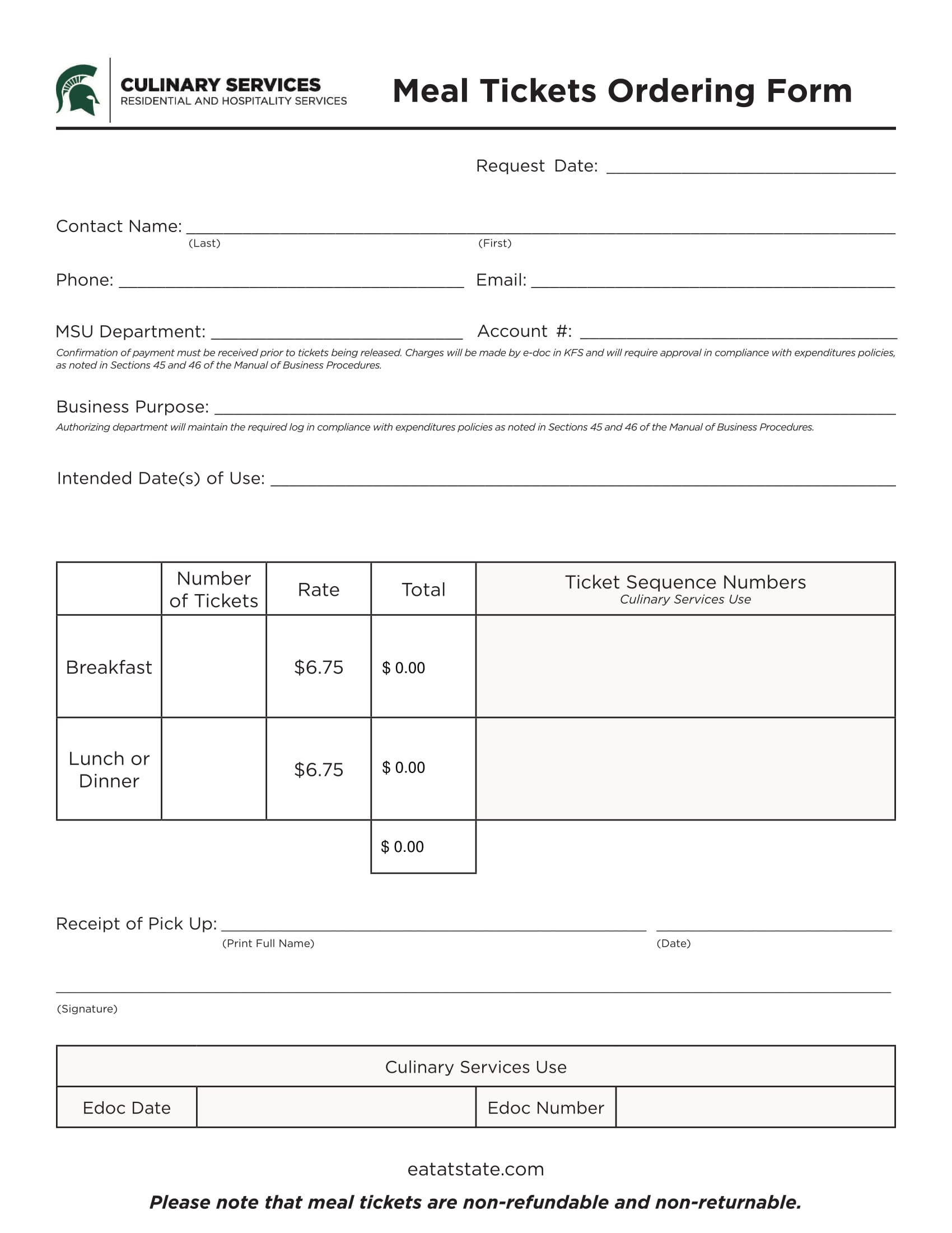 meal ticket order form 2