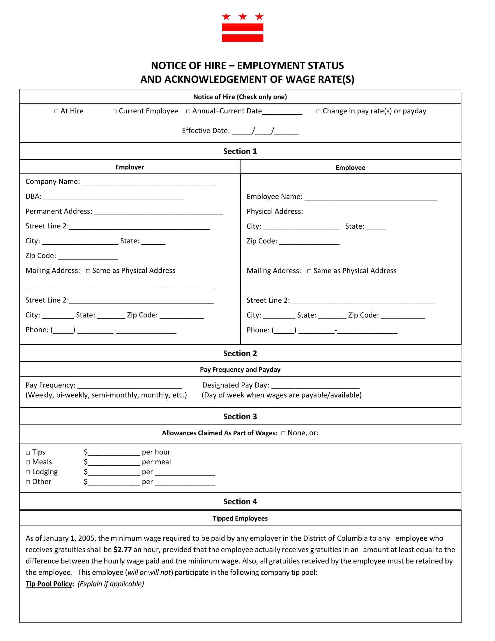 notice of job hiring form 1