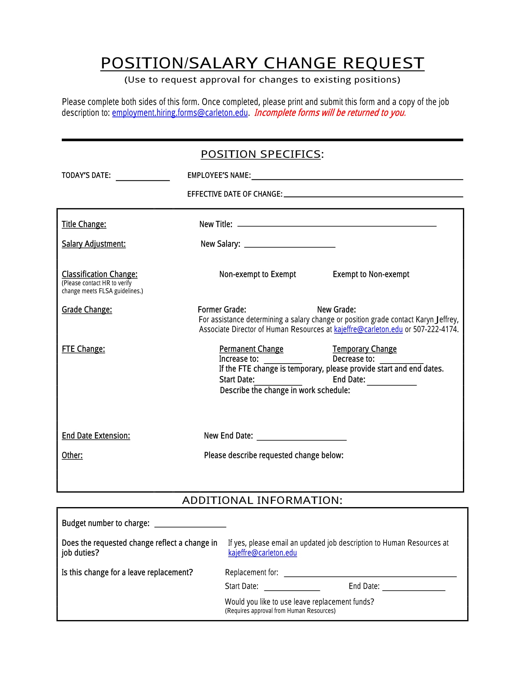 position or salary change request 1