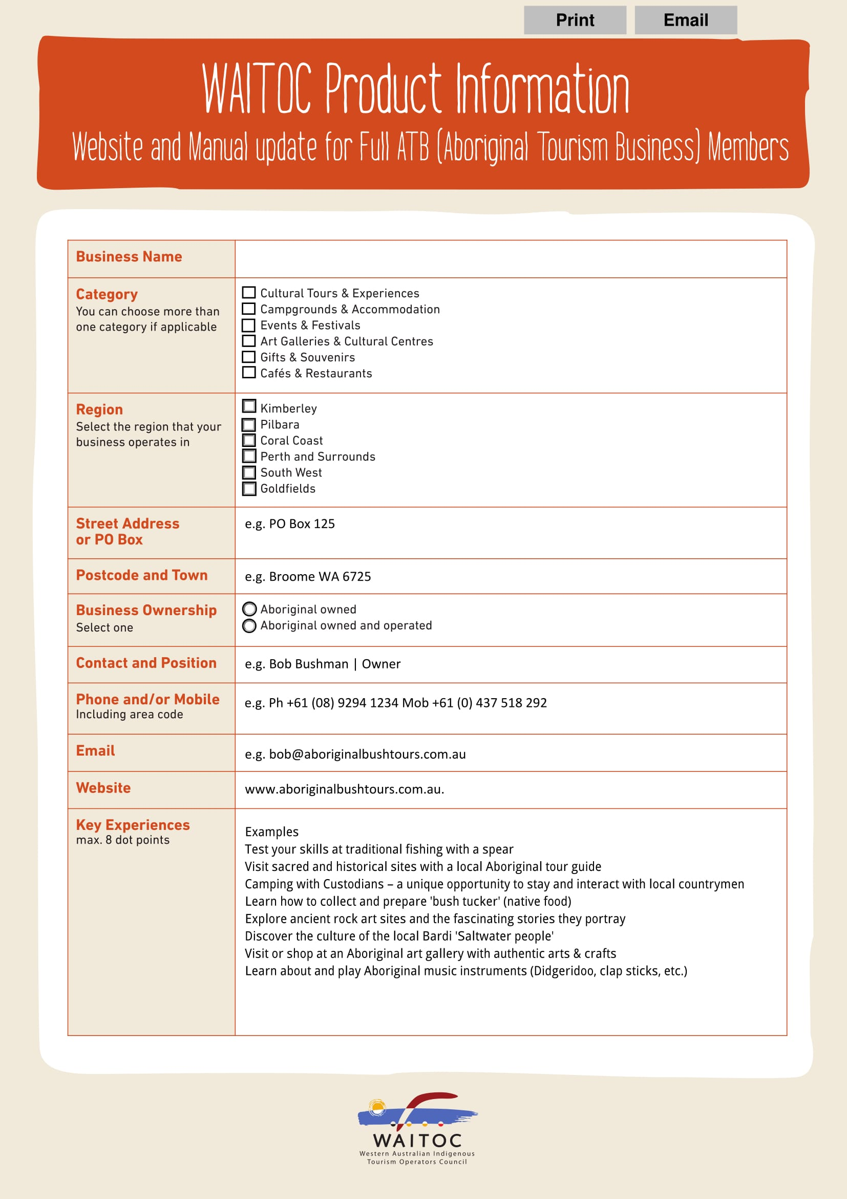 product information form pdf template 1