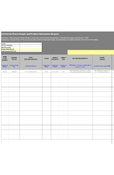product information request form1