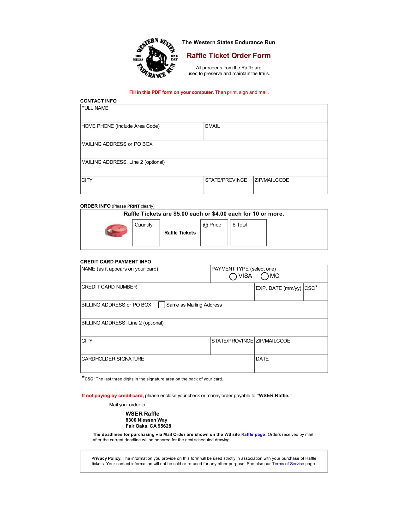 14 ticket order forms free pdf format