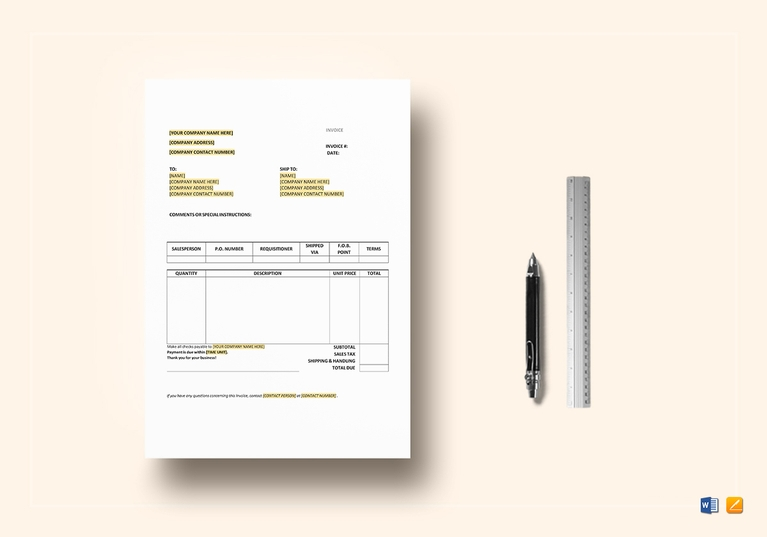 record of purchase invoice template