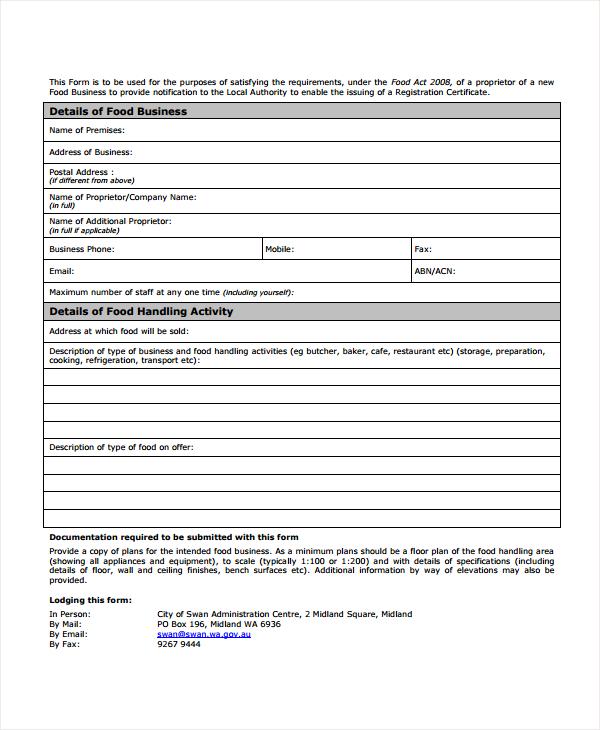 restaurant business registration form1