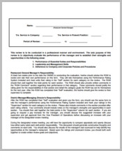 Restaurant Management Review Form