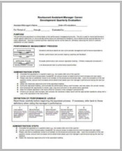 Restaurant-Quarterly-Evaluation-Form1