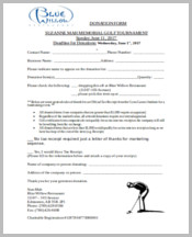 Restaurant marketing donation form