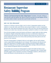 Restaurant supervisor safety training form