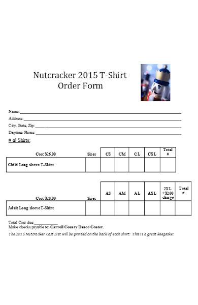 sale ticket order form