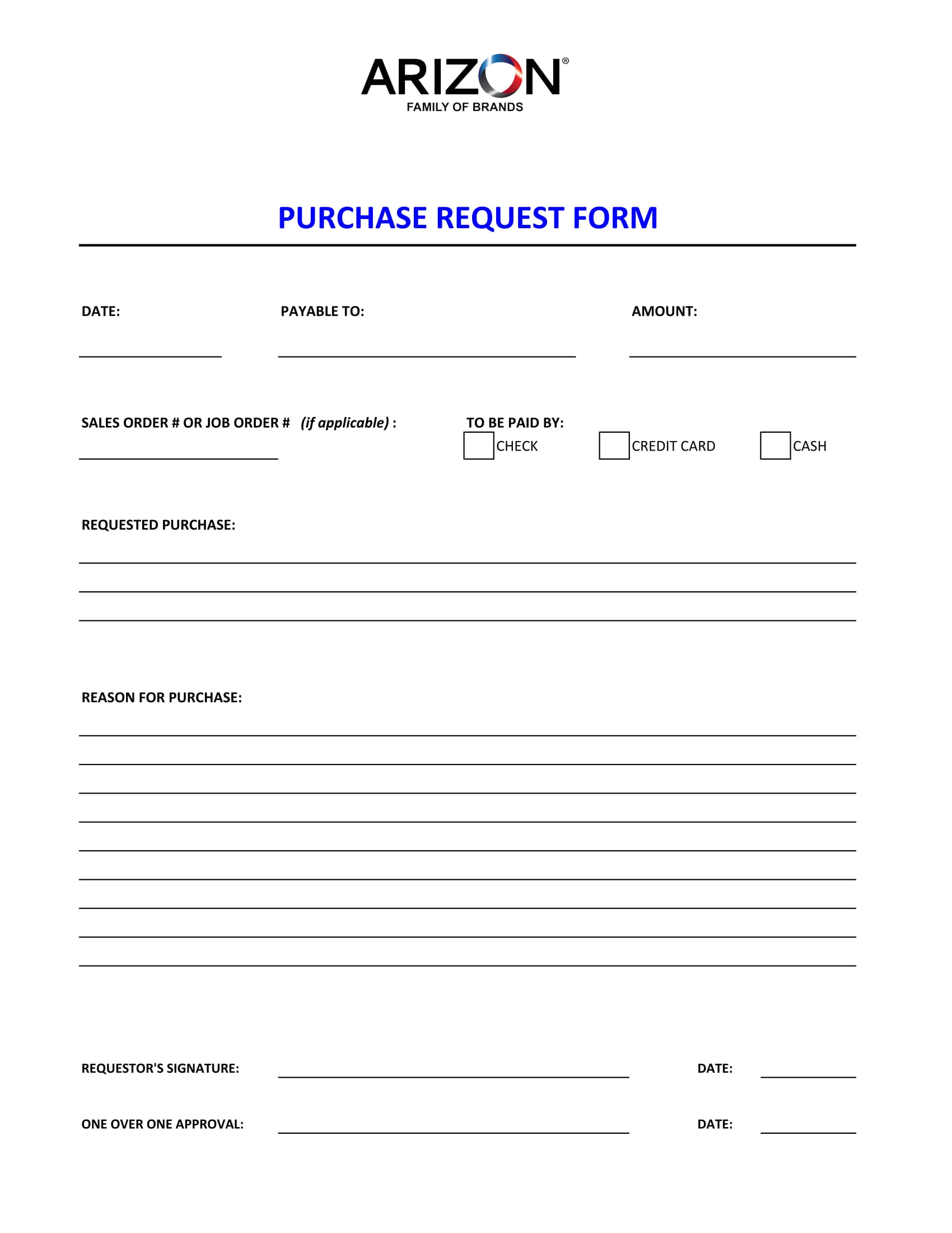 simple purchase request form 1