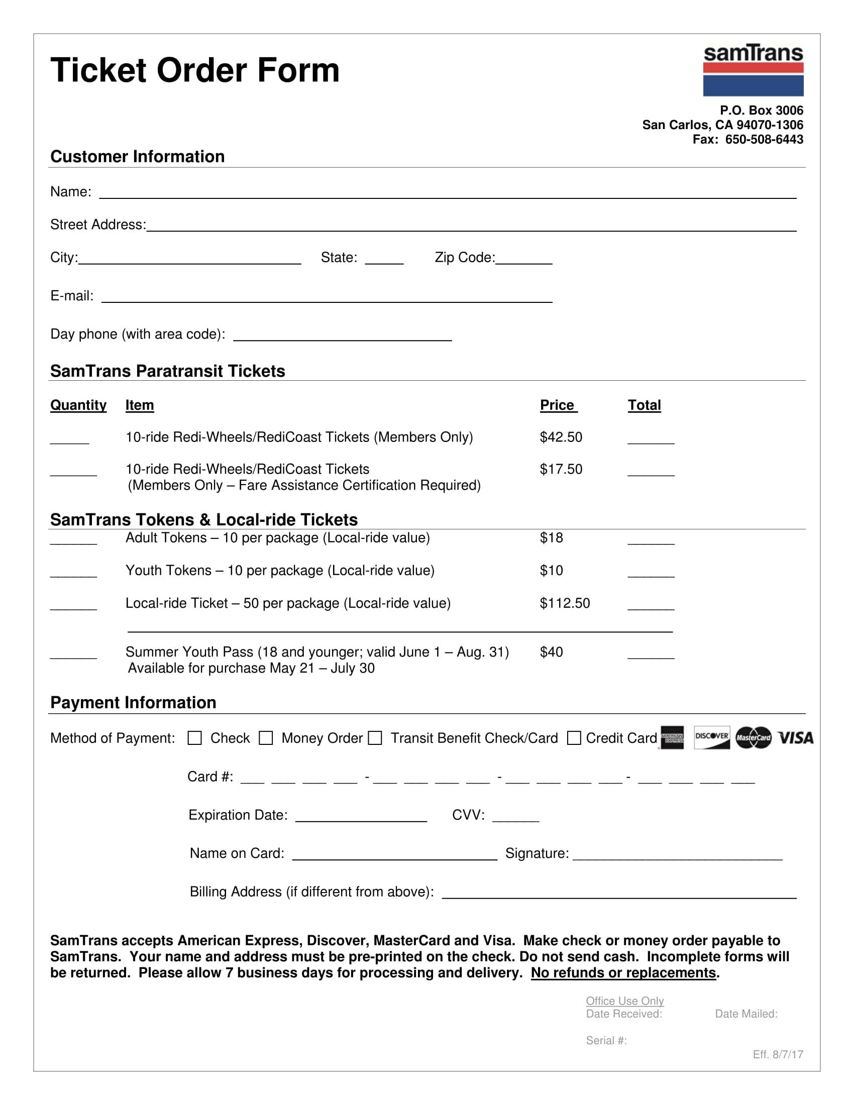 transit ticket order form 1