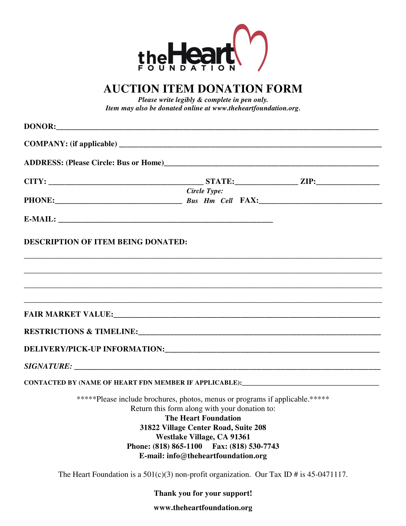 donor forms