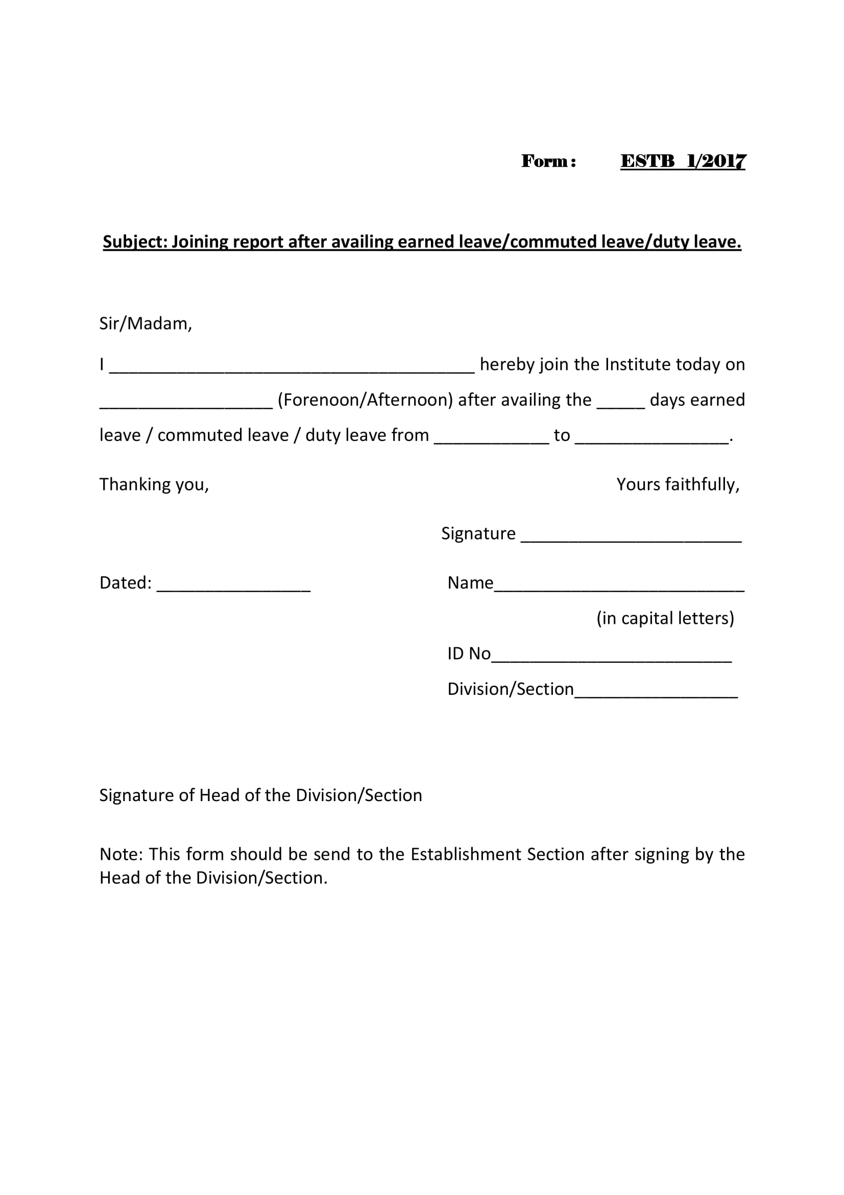 14 joining report forms pdf doc basic sample for joining report form spiritdancerdesigns Choice Image