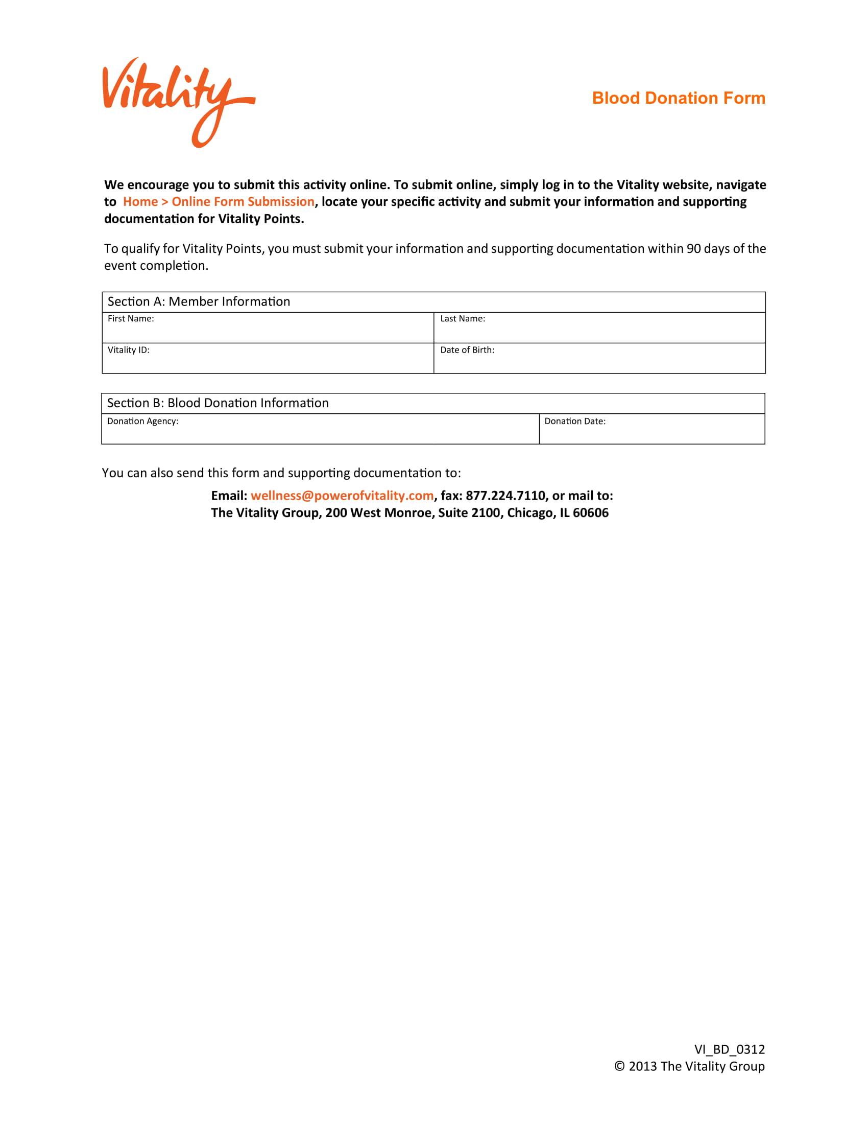 blood donation form sample 1