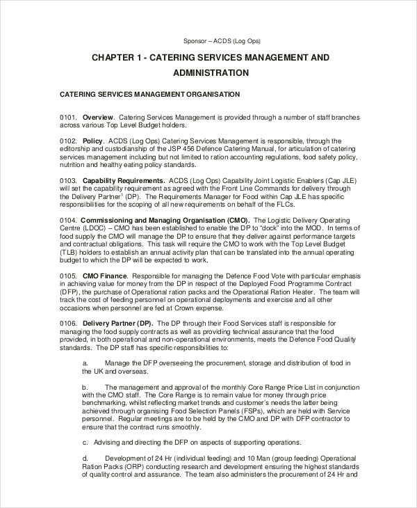 catering management form