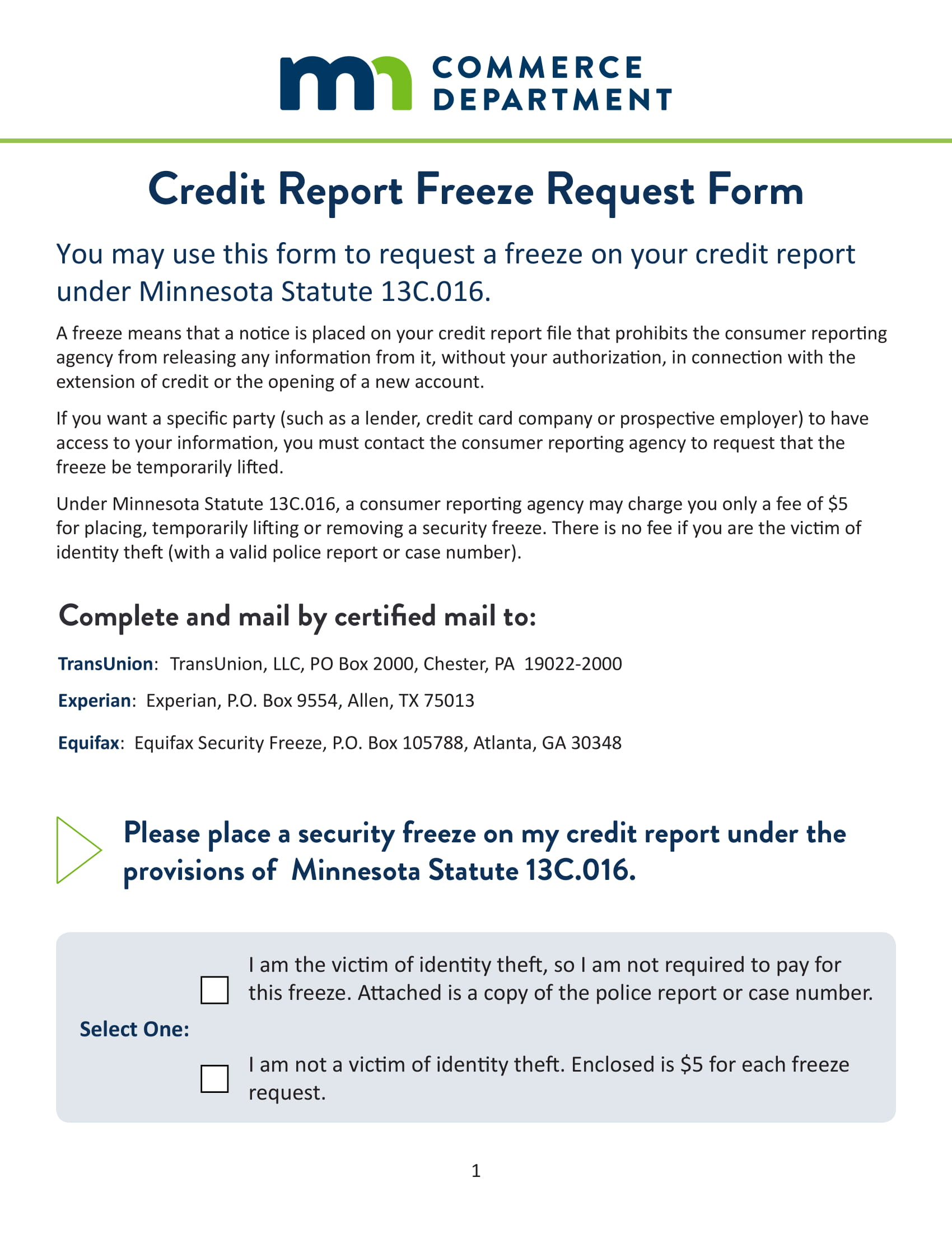 Equifax Credit Report >> FREE 12+ Credit Report Forms in PDF