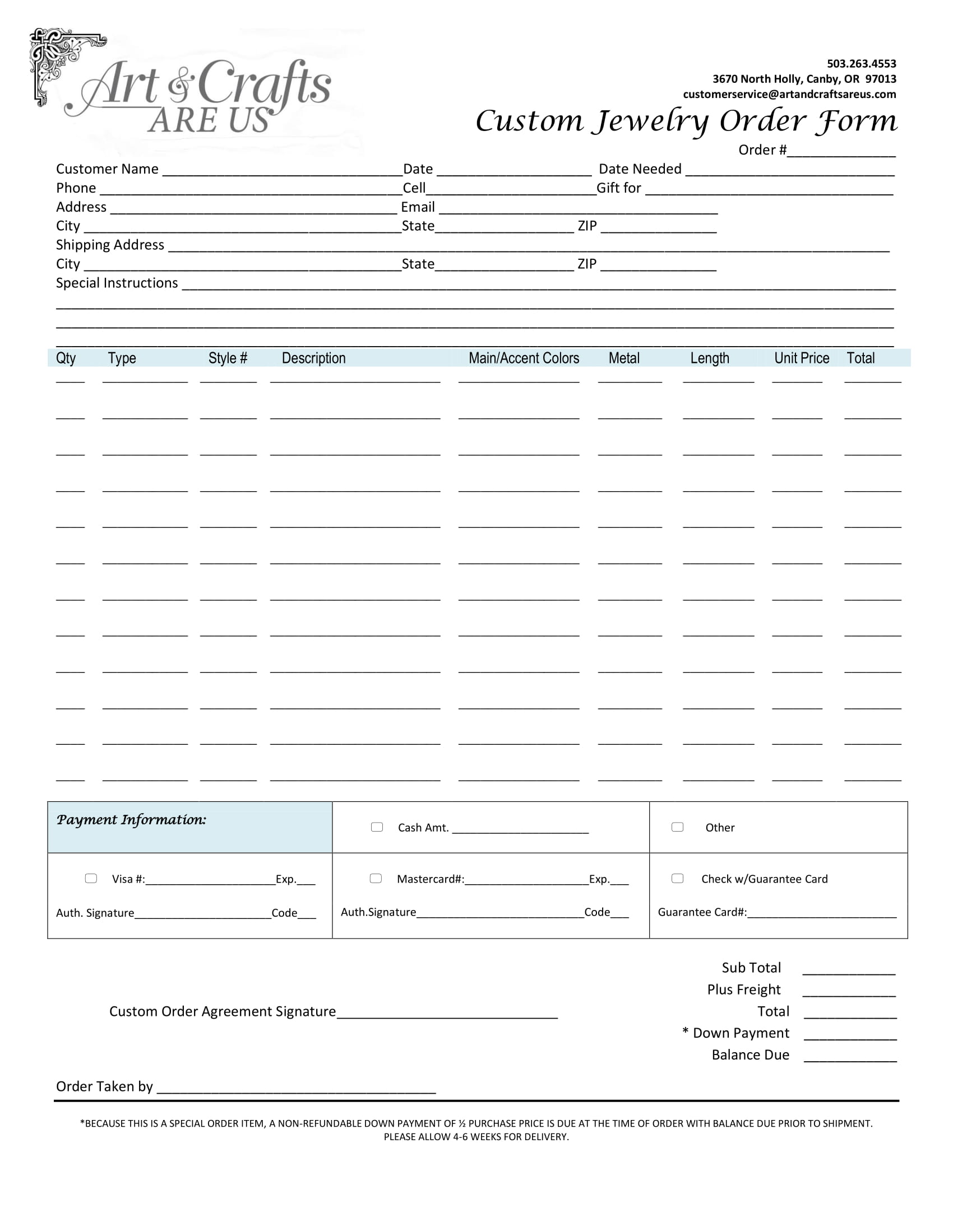Well Known Special Order Form So17 Advancedmassagebysara