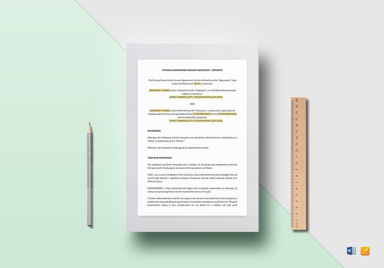 employee physical exam consent template