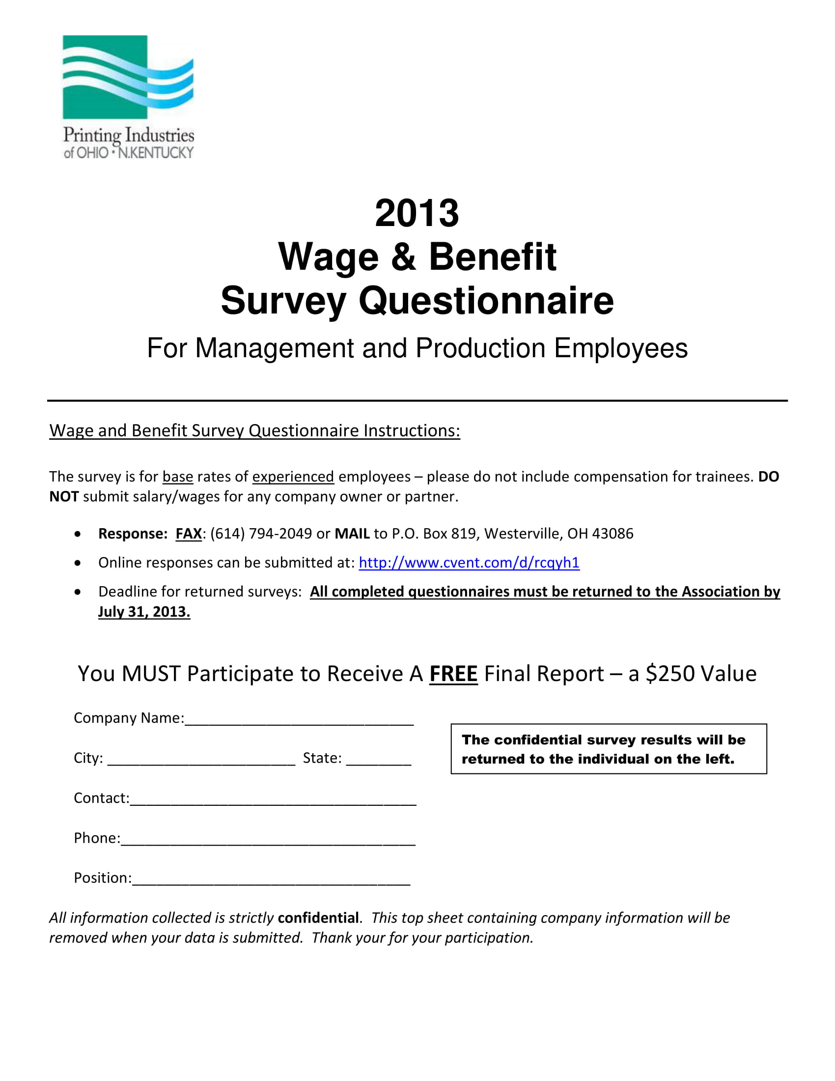 1  employee benefits survey forms