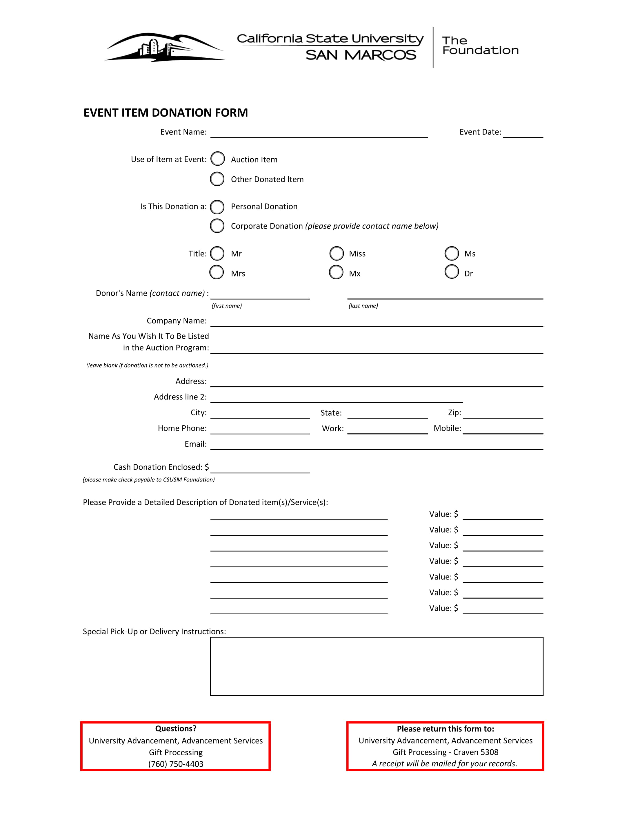 event item donation form 1