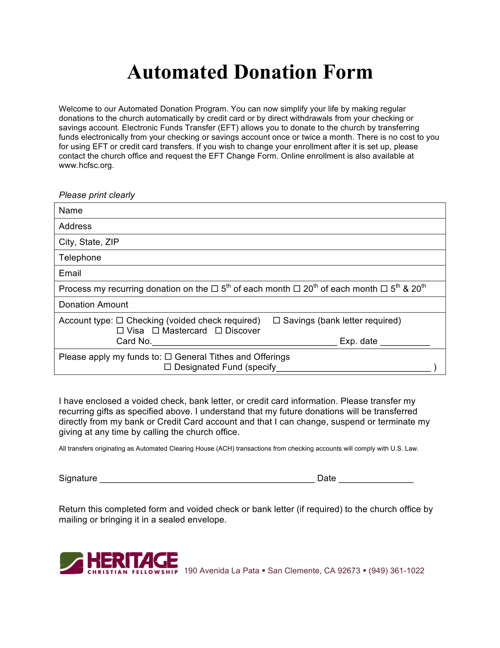 fellowship automated donation form 1