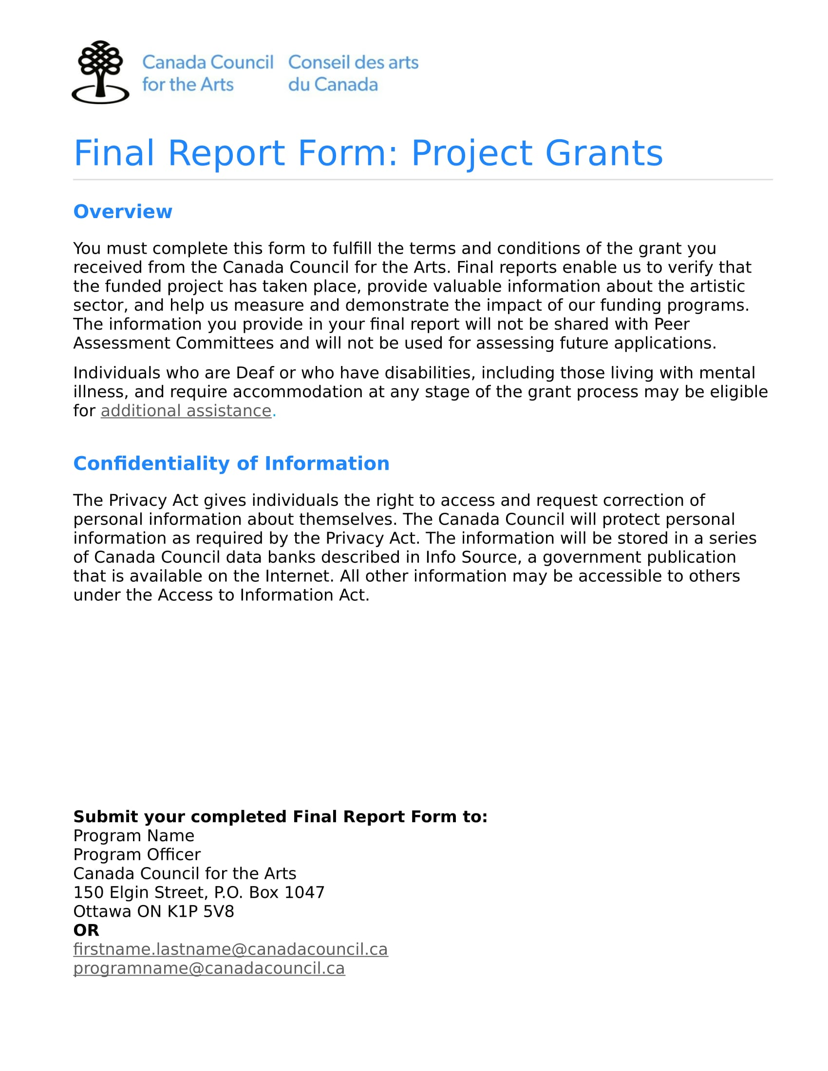 final report form for project grants in doc 1