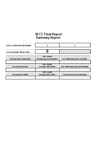 final summary report form