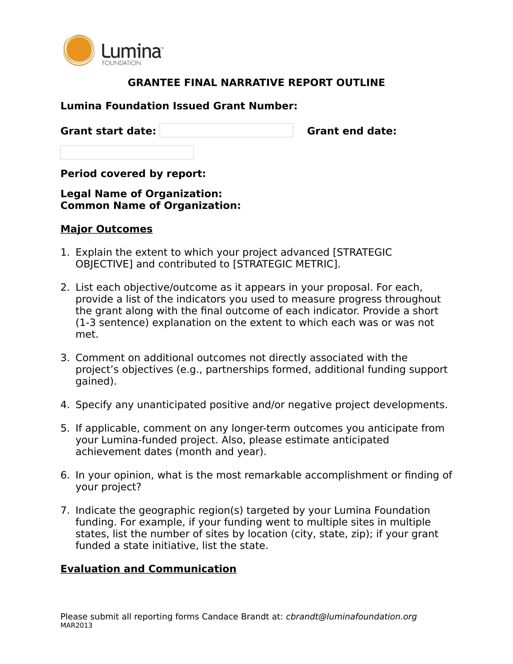grantee final narrative report form 1