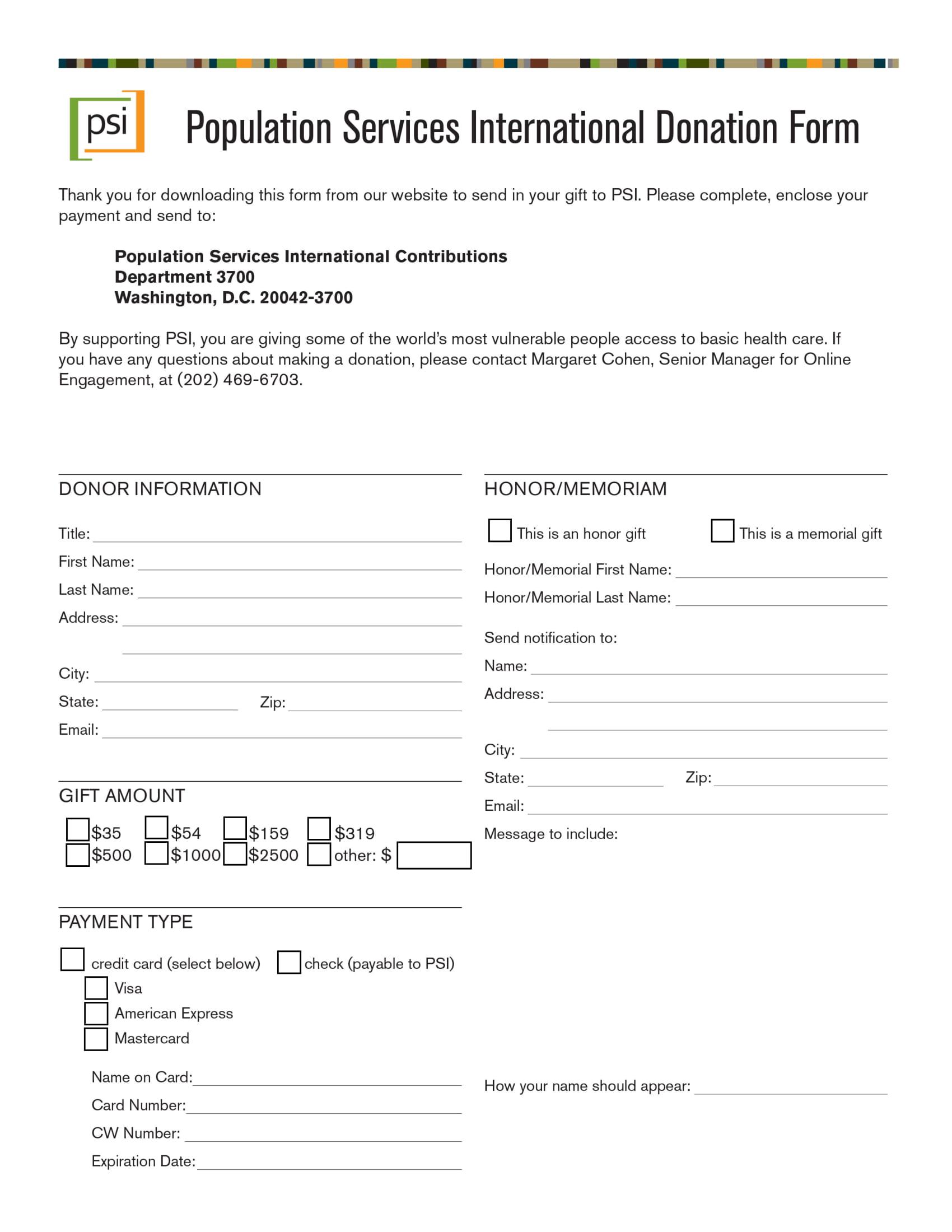 international donation form 1